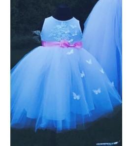 Pūsta suknelė su kaspinuku