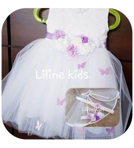 Balta krikštynų suknelė