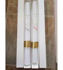 Krikšto / Komunijos žvakė su balta gelyte